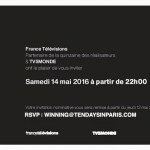 INVITATIONS FOR FRANCE TV FESTIVAL PARTY IN CANNES