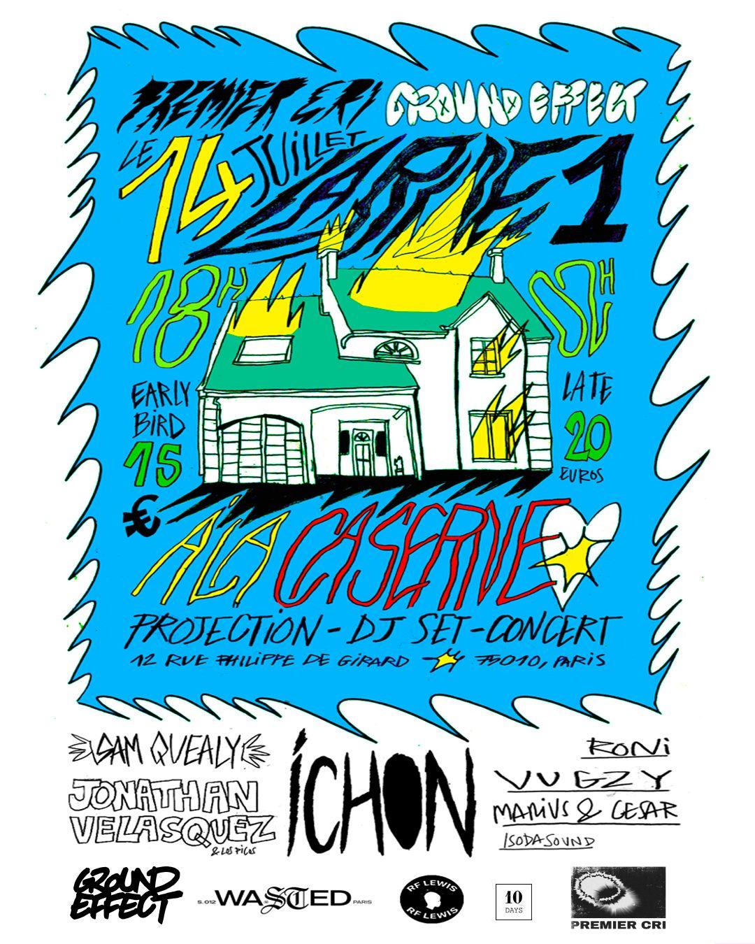"""Invitations for """"La Ride 001″ by Premier Cri x Ground Effect at La Caserne"""